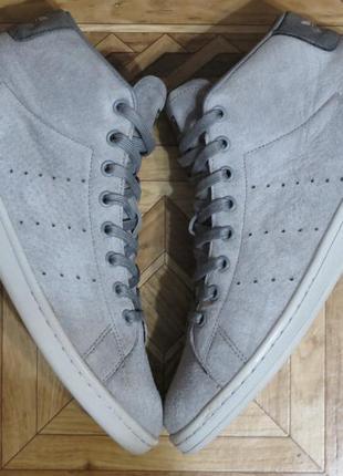 Высокие кроссовки сникерсы adidas stan smith{оригинал}р.42