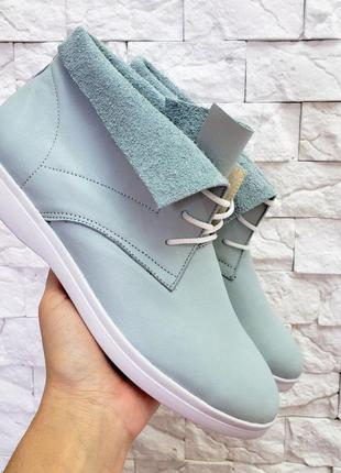 Кожаные хайтопы высокие кеды ботинки демисезонные натуральная ...