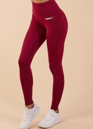 Лучшие леггинсы фитнес люкс бренд высокая талия бордо gymshark...