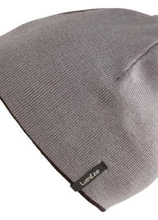 Черно-серая двухсторонняя лыжная шапка wedze (decathlon)
