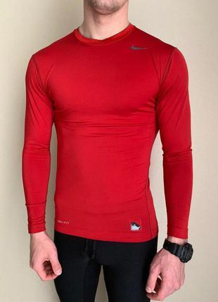 Шикарная компрессионная футболка/ кофта nike pro combat red 😍 ...