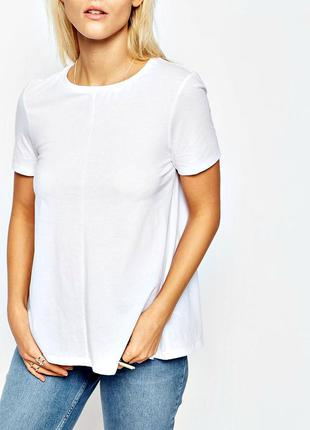 100% хлопок! мягкая белая футболка с коротким рукавом р.14