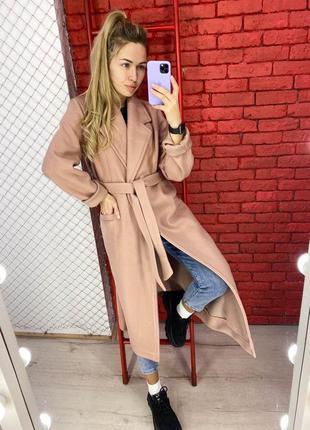 Двубортное пальто из кашемира