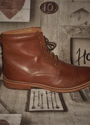Мужские кожаные ботинки topman