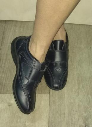Кожаные мокасины полуботинки free step р 38 англия сост новых
