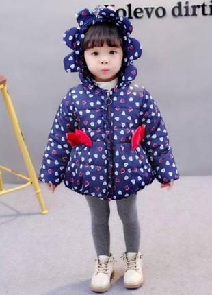 Куртка для дівчаток демісезонна фіолетова
