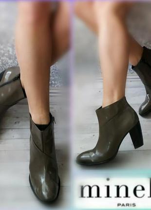 41р кожа!новые италия  minelli,лаковые, деми ботинки