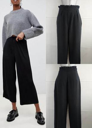 Стильные брюки кюлоты topshop черного цвета
