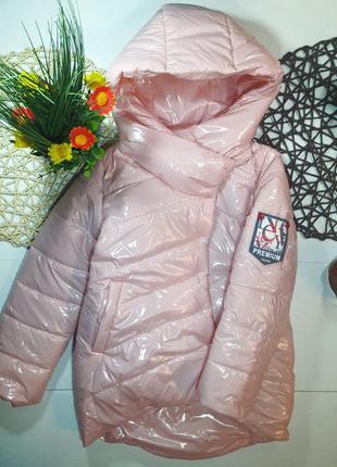 Куртка удлиненная, демисезонная, монклер