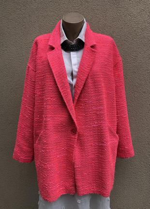 Легкое,фактурное,букле пальто,кардиган,жакет,пилжак