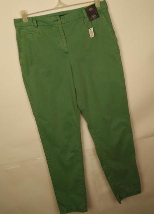 Брюки чиносы зеленые новые стильный хлопковые marks&specner uk...