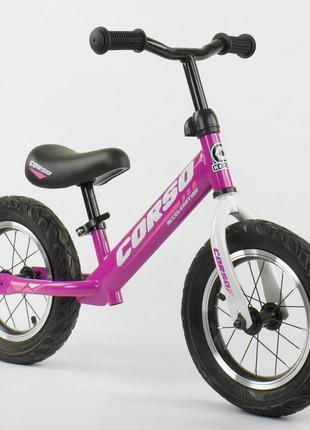 Детский велобег 12 дюймов Corso 54307 стальная рама, надувные кол