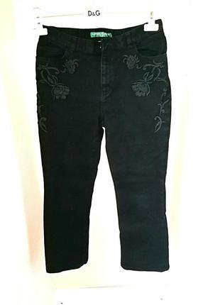 Классические джинсы черные с высокой посадкой прямые дорогого ...