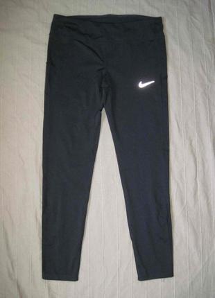 Nike dri-fit (l) беговые спортивные лосины женские