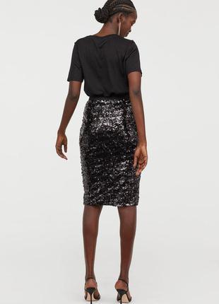 Шикарная юбка-карандаш с пайетками бренда george р-р 48-50
