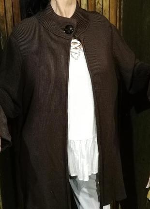 Кардиган темно-коричневый накидка кофта