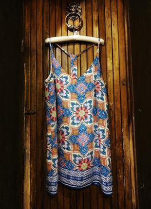 Яркий сарафан платье с шикарным принтом new look