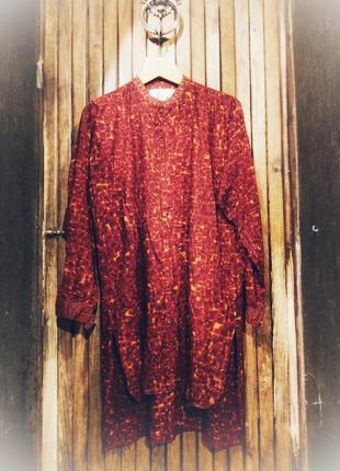Flo. чудесная яркая рубашка туника принт орнамент этнический
