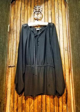 Блуза шифоновая стильная с рукавами фонариками рубашка блузка ...