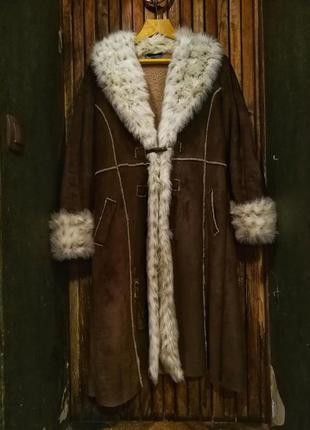 Style collection. великолепная дубленка с мехом под рысь, с вы...