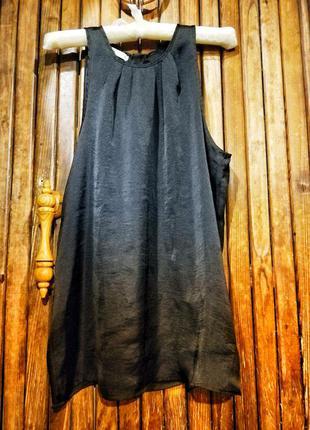 Lefties блуза без рукавов на молнии сатин майка