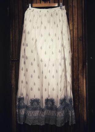 Великолепная нежная юбка из вискозы! орнамент принт бохо этно