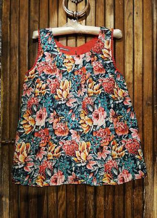 Блуза laura ashley яркий цветочный принт бохо ретро винтаж