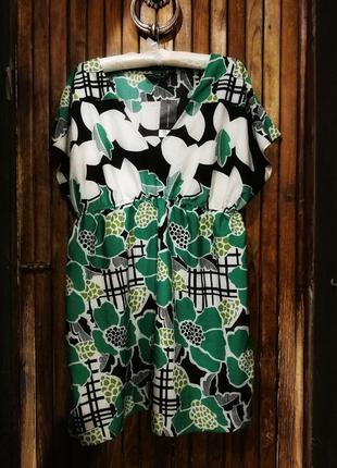 Платье dorothy perkins принт цветы тонкое летнее миди