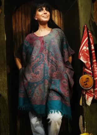 Pashmina нежное пончо туника шерстяное кашемир