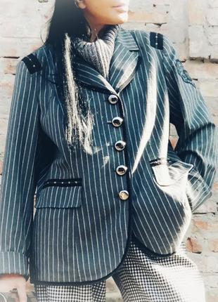 Шикарный полу шерстяной блейзер пиджак жакет вискоза шерсть в ...