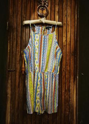 Ромпер комбинезон atmosphere яркий принт орнамент шорты летний...