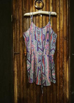 Ромпер комбинезон atmosphere яркий шорты принт летний орнамент...