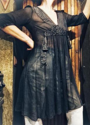 Туника платье monsoon прозрачное с шелком