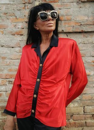 Эксклюзивная дизайнерская винтажная блуза рубашка frank usher ...