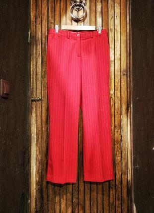 Брюки в полоску классические со стрелками офисные штаны прямые...