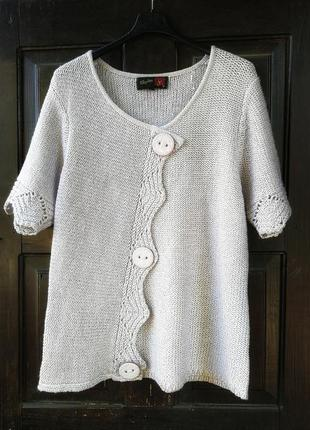 Кофта джемпер свитер пуловер вязаная ажурная кружево stephen y