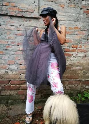 Платье сарафан на запах с фатином noa noa