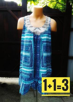 Платье коттон сарафан monsoon с пайетками вышивкой карманом ми...