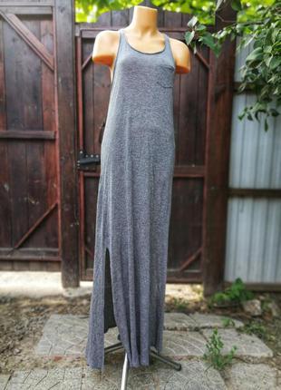 Платье из вискозы divided с разрезами длинное