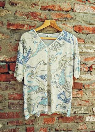 Mersini футболка блуза батал принт трикотажная