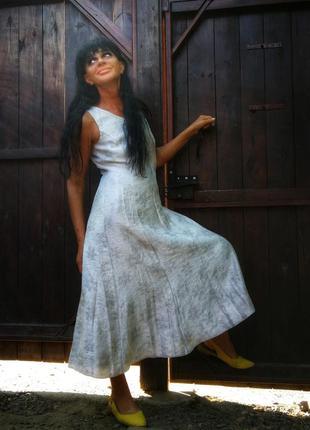 Платье с вискозой длинное приталенное расклешенное jacques ver...