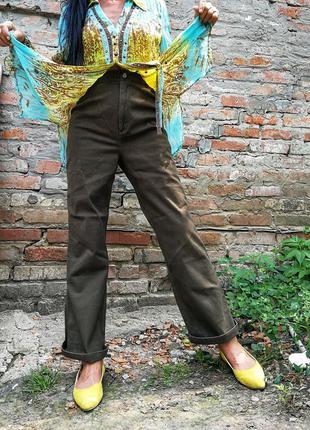 Брюки для беременных mama джинсы стрейчевые стрейч