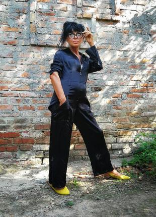 Шёлковый комбинезон с брюками шёлк betty baclay на молнии
