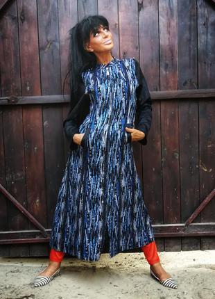 Bagiza. плащ летний с люрексом карманами длинный