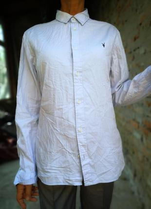 Рубашка allsaints с вышивкой коттон хлопок