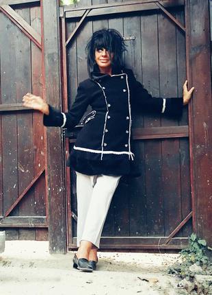 Флисовая куртка с искусственным мехом пальто демисезонное polz...