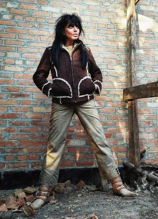 Куртка искусственный мех дубленка s. oliver демисезонная