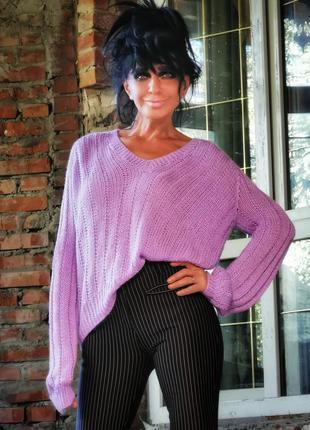 Джемпер ажурный кружевной вязаный пуловер свитер