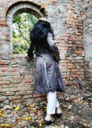 Необычная куртка длинная на синтепоне демисезонная пальто squa...