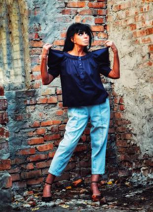 Блуза see by chloe с вырезами на плечах вышивкой коттон хлопок